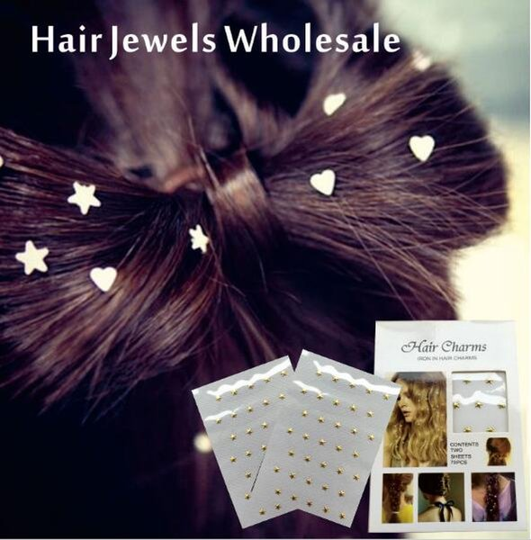 WHOLESALE Hair Jewel Charmsies Hair Tattoo Sticker You can Pick from from over 20 different Hair Gem designs.