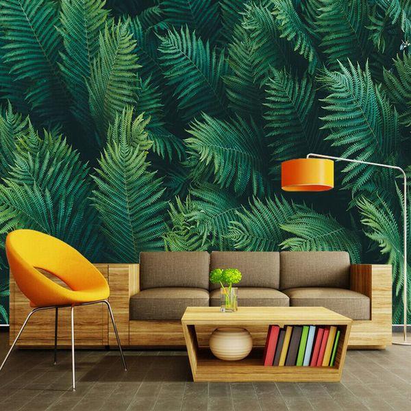 Tropical Rainforest Wallpaper Custom Nordic Wall Mural Hd Image Banana Leaf Photo Wallpaper Art Bedroom Living Room Hotel Modern Room Decor Top