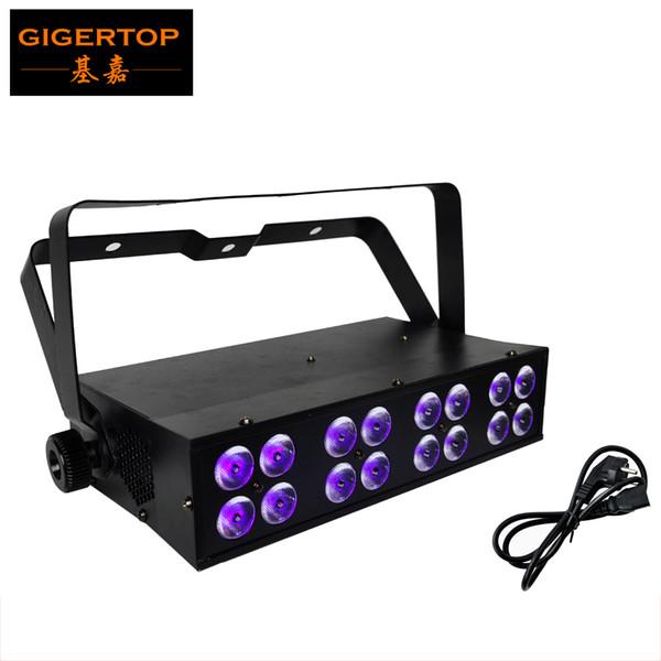 Livraison Gratuite 16x3W Led Bar UV Blacklight Mini Taille LED Stade Lumière DMX 512Sound Led Stade Lumière 4DMX Américain DJ Purple Stage Lumière