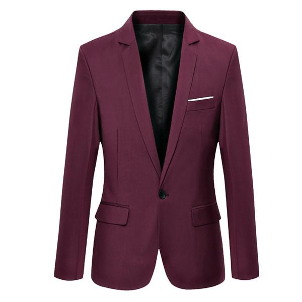 En gros - Mens manteau de mariage robe costume veste Jaqueta slim fit blazer de mode pour hommes blazers de coton hommes Costume Homme