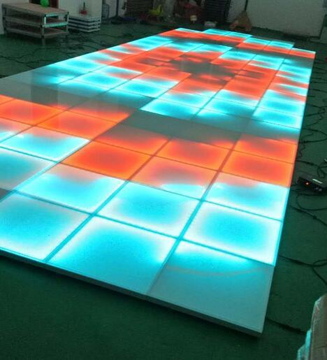 controller dmx, pista da ballo effetto led 5050 RGB 3in1, pavimento da ballo pixel, pista da ballo led per la vendita