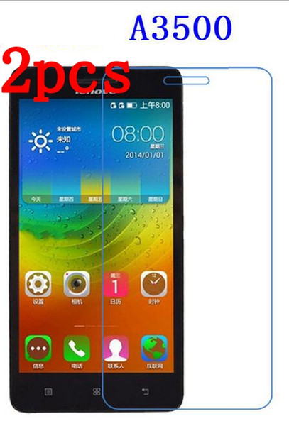 """Wholesale- 2pcs For Lenovo A7-50 A3500 7"""" tablet Clear Soft Screen Protector Front LCD Screen Guard Protective Film+ cloth"""
