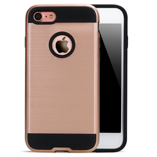 Hot Selling Wholesale TPU Silicone Armor Hard Plastic Phone Case For iPhone 6 6s plus 7 7 plus Back Coverage Case