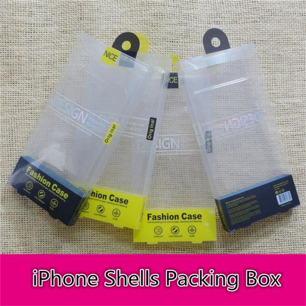 Atacado pvc caixa do telefone móvel embalagem telefonema shell caixa de embalagem com insert para iphone samsung frete grátis b1098