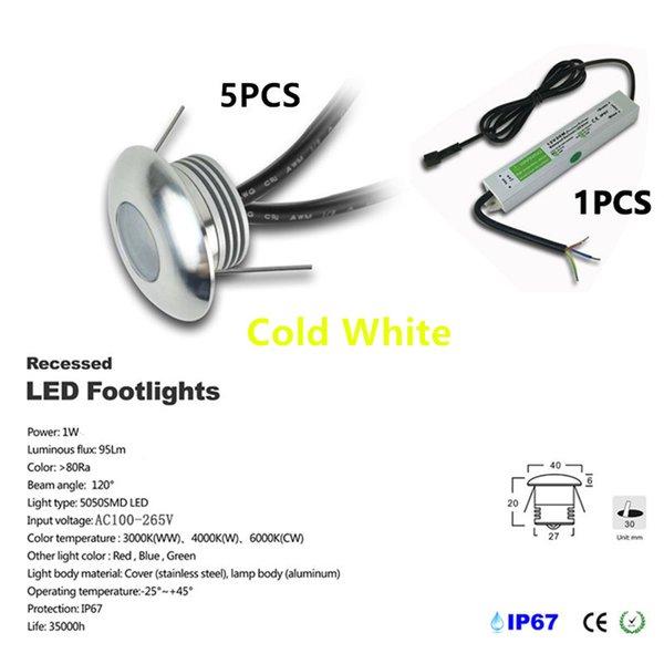 5pcs / set Cold White