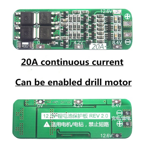 5pcs/lot 3S 20A Li-ion Lithium Battery 18650 Charger PCB BMS Protection Board For Drill Motor 12.6V Lipo Cell Module