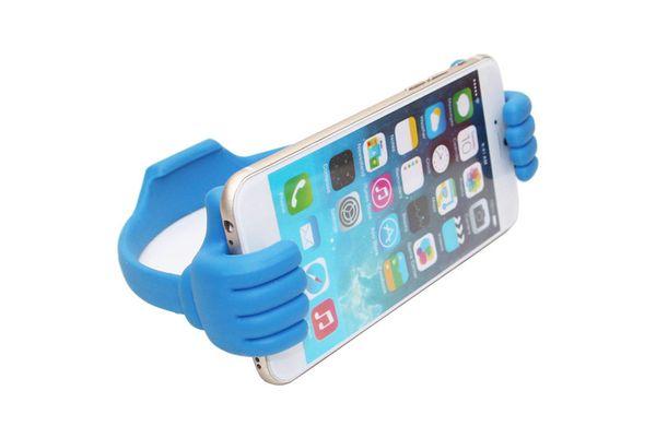 Universal Thumb OK Stand Holder Clip Adjustable Flexible Plastic Holder Support Car Desktop Bed For iphone ipad Samsung