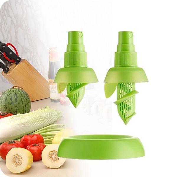 2Pcs/set Creative Lemon Sprayer Fruit Juice Citrus Lime Juicer Spritzer Kitchen Gadgets Spray Fresh Fruit Juice Cooking tool