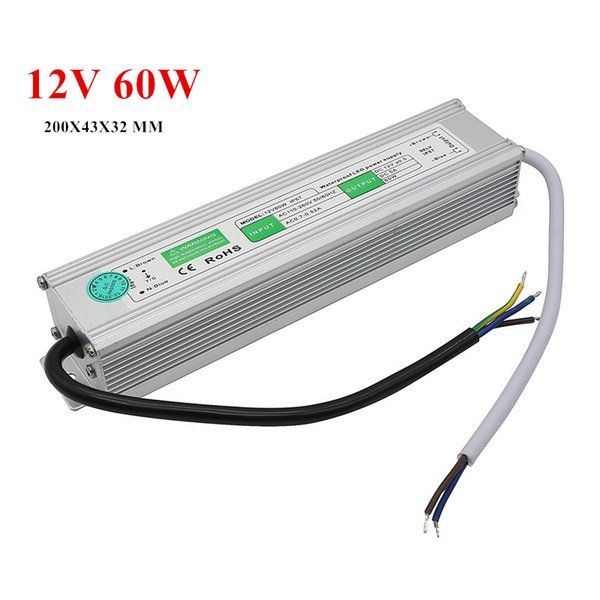 reputable site e10ce 40875 2019 Small Size Lighting Transformers Waterproof IP67 LED Power Supply 12V  5A 60W Led Driver Led Strip From Best2011, $12.07 | DHgate.Com