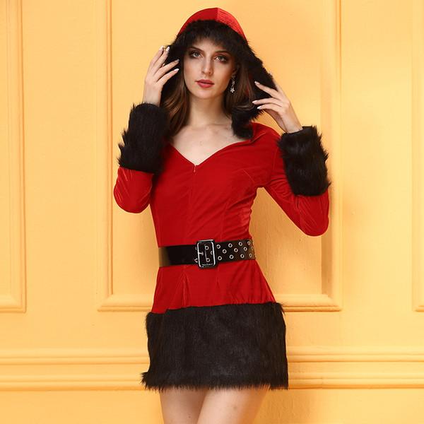 2017 yeni Noel Set Üniforma Günaha Seksi Arkadaş Nazik Kırmızı Elf Topu Ovo Servis Ceket Kadınlar 2017