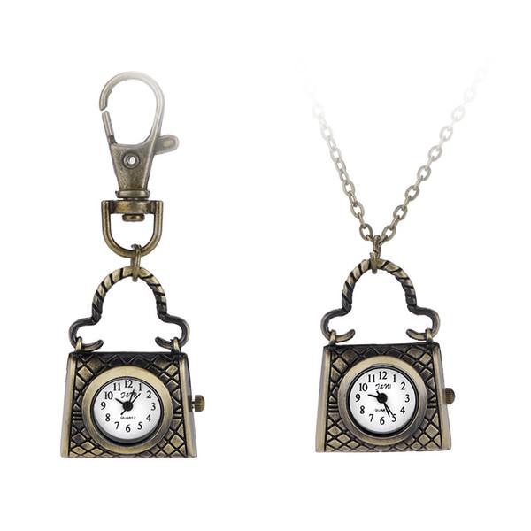 Kuvars İzle erkekler ve kadınlar tarzı yaratıcı çanta antik yollar geri tarzı cep saati kolye izle
