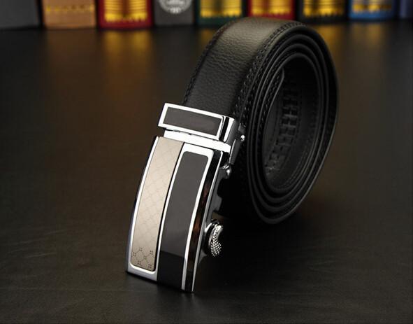 best selling fashion Men's Business Waist Belts Automatic buckle Genuine Leather belts For Men 105-125cm