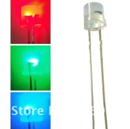top popular 1000pc 5mm RGB Flat Top Diffused Slow Color Change LED diode 2020