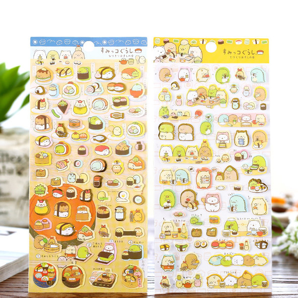 best selling Wholesale- New 1pcs Kawaii Scrapbooking Corner Creature Ver 3 Planner Stickers decoration Label cartoon Korea Stationery san-x Memo Pads