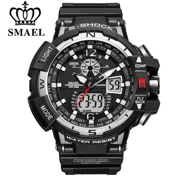 Großhandels-SMAEL Luxusmarke Männer Sportuhren Digital Sport Armbanduhren Mann Wasserdicht Relogio Masculino Für Herren Quarzuhr