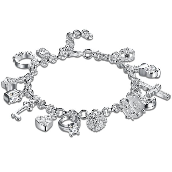 Women 's Accessories Bracelet Silver Plate Different Items Cahrm Bracelet With Wedding Engagement Jewelry For Women