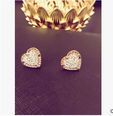 3 colores pendientes de cristal austriaco amor pendientes de plata para la joyería del banquete de boda