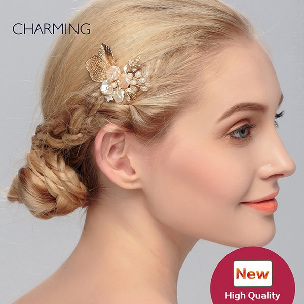 Hair crown jewelry Rose gold Pretty hair accessories Wedding accessories hair metal Bridal tiaras crystals pearls Hair accessories for sale