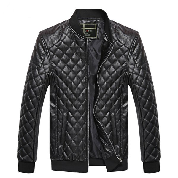 top popular Brand Men Jacket PU Leather Coats Bikers Motorcycle Jackets Autumn Spring Clothes Outwear Overcoat Boy Tops Large Size 3XL Black 2019