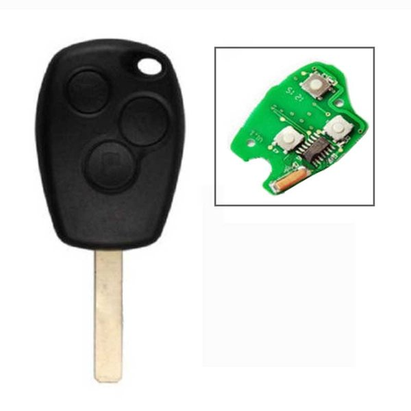 3 Buttons Car Remote Key Transmitter Control Keyless Fob for RENAULT 433MHz PCF7947 Chip blade VA2