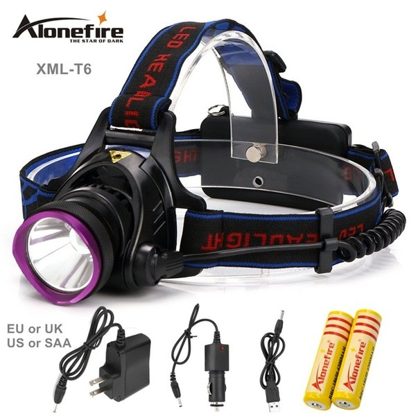 AloneFire HP81 CREE XM-T6 Led Headlamp 3Modes High Power Head Lamp for Outdoor Fishing Hiking Travelling 2000 Lumens Led Headlight Light