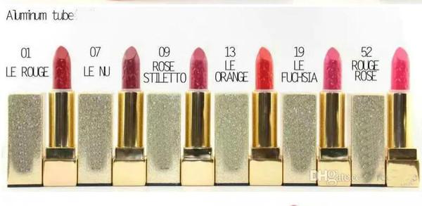 ¡ENVÍO GRATIS! Nuevo maquillaje Rouge Pur Couture Lipstick 6 colores diferentes (6PCS / LOTE)