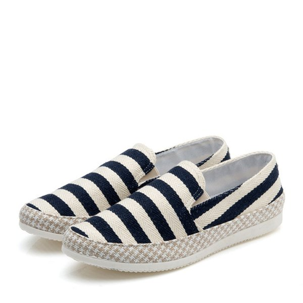 Wholesale-Men Shoes Men Loafers Canvas Espadrilles Mixed Colors Canvas Round Toe Slip-On Spring/Autumn Casual Flat Loafers MXF002