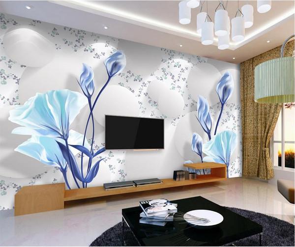 Elegant Fresh Simple Wallpaper Mural 3D 3D TV Wall mural wall papers for tv backdrop