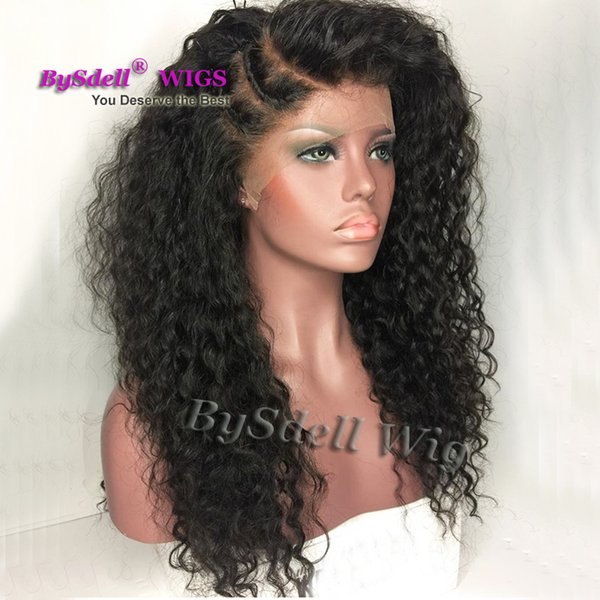 Glueless Full Lace Wig Synthetic Black Braided