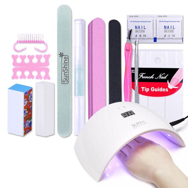 Wholesale- UV LED SUN9 24W Manicure Tool Nail Gel Lamp UV LED Lamp ...