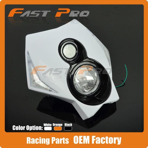 Universal Motorcycle Dirt Bike LED Headlight Head Lamp Kit For KTM CRF FL
