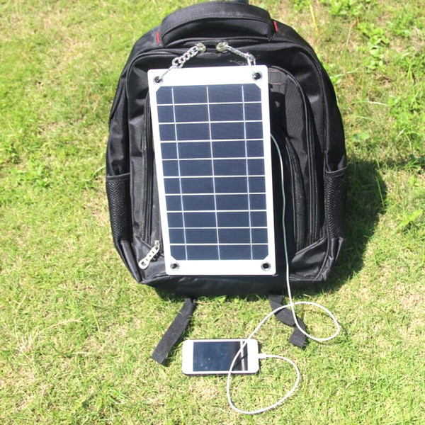 top popular BUHESHUI 7.5W 5V Portable Solar Panel Charger Outdoor USB Digital Frame Style Solar Charger for iPhone Samsung Android 5V Device 2021