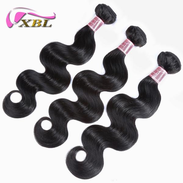 Волосы утка человеческих волос объемной волны XBL девственные Малайзийские волосы объемной волны двойные слои машины утка волос