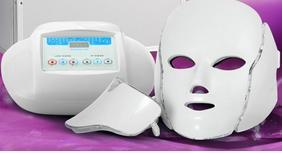 2017 heißer 3in1 licht photon therapie led gesichtsmaske hautverjüngung pdt hautpflege schönheit maschine gesicht hals verwenden mit mikrostrom elektrode