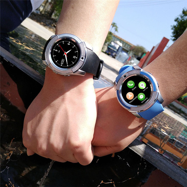 top popular 8 Colors V8 Smart Watch Phone Bluetooth 3.0 IPS HD Full Circle Display MTK6261D Smartwatch For Android System Smartphone In Box 2020