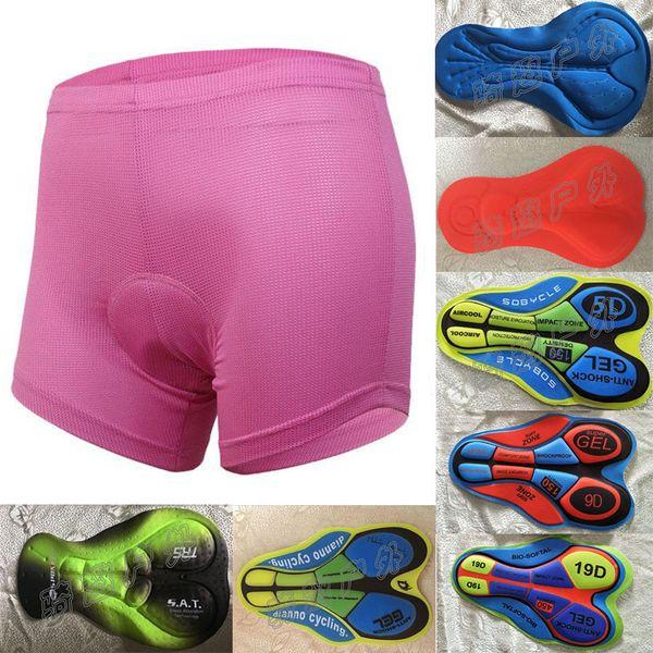 Radfahren Unterwäsche Benutzerdefinierte Fahrradbekleidung Lätzchen Damen Fahrrad Radfahren bequeme Unterwäsche Gel 3D 5D 9D 19D Name SAT Coolmax gepolsterte Shorts