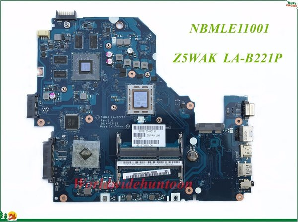 High Quality MB NBMLE11001 For Acer Aspire E5-551G Laptop Motherboard Z5WAK LA-B221P Non-Integrated DDR3 100% Tested