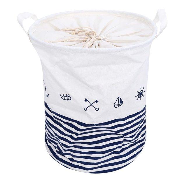 Venta caliente de moda multifunción cesta de almacenamiento patrón de dibujos animados de algodón de lino plegable cesta de almacenamiento de lavandería caja de juguetes