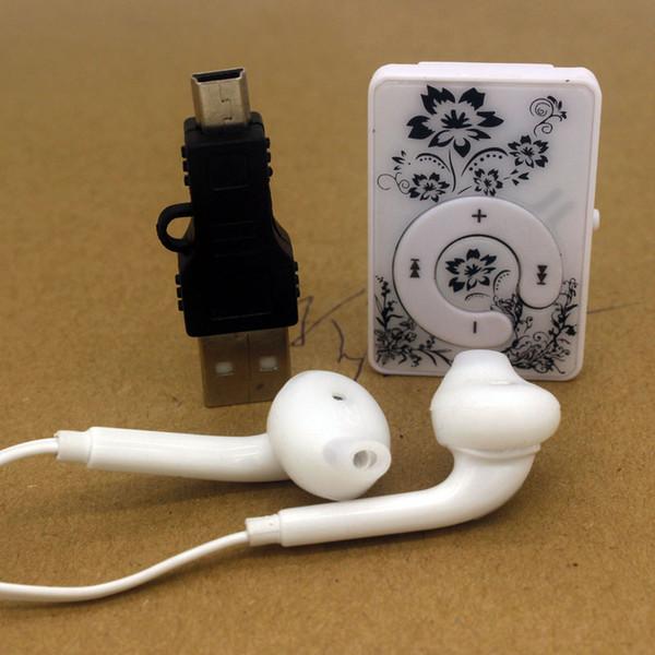 Vendita all'ingrosso- Mini USB Clip sport MP3 Music Media Player Micro TF / SD Supporto per scheda con auricolari e cavo