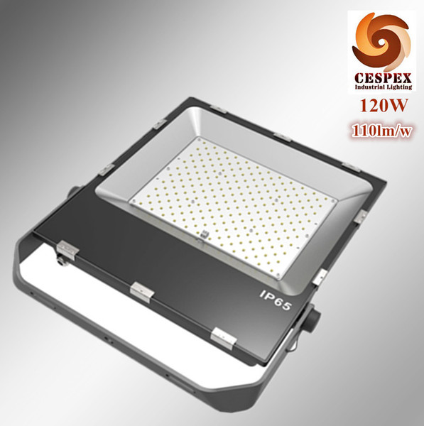 High heat transmit performance ultra-thin die cast aluminum alloy AC110v 220v 240v 50/60hz 110lm/w IP65 120W LED flood light