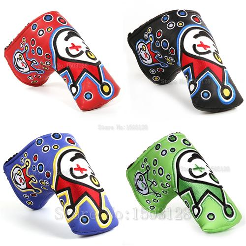 best selling Hot New Golf Head Cover High Quality PU Golf Putter protecter with Embroider Red Green Blue Black 4 color