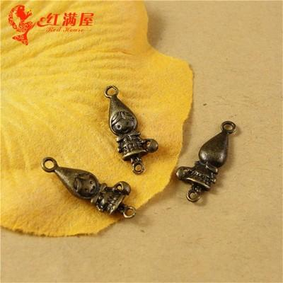 19*8MM Antique Bronze Little Red Riding Hood charm for bracelet, vintage metal dangle fairy tale pendants for necklace alloy jewelry making
