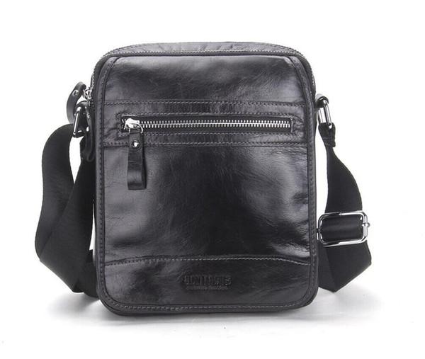 best selling New Collection 2017 Fashion Men Bags Genuine Leather Messenger Bag High Quality Man Brand Business Bag Men's Handbag