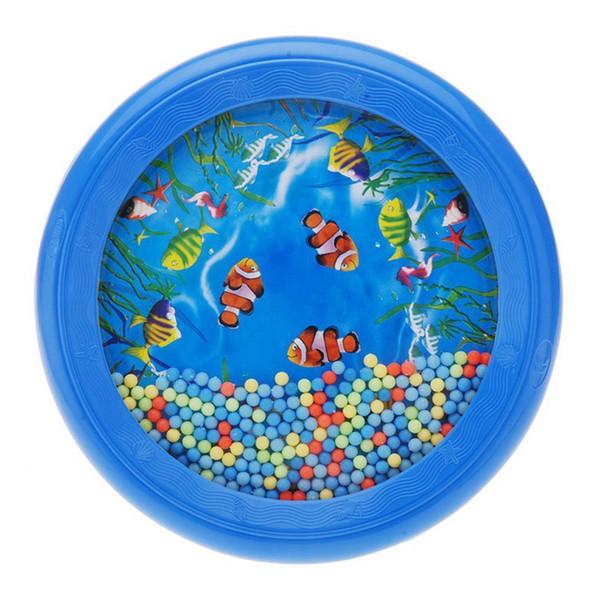 Al por mayor-Ocean Wave Bead Drum Gentle Sea Sound musical herramienta de juguete educativo para bebé niño niño