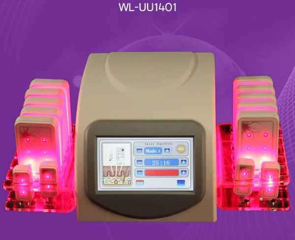 Neueste Design Hohe Qualität Fett Verlust 5 mw 635nm-650nm Lipo Laser 14 Pads Fettverbrennung Cellulite Entfernung Schönheit Körperformung Abnehmen Maschine