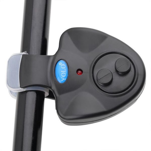 BlacK Evrensel Balıkçılık Alarm Elektronik Balık Bite Alarm Bulucu Ses Uyarısı Olta Üzerinde LED Işık Klip