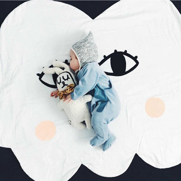 top popular Baby Play mats Clouds Sun Smiling face Sleeping playing Game pad Children crawling mat baby toys INS hot style Kids gifts 2021