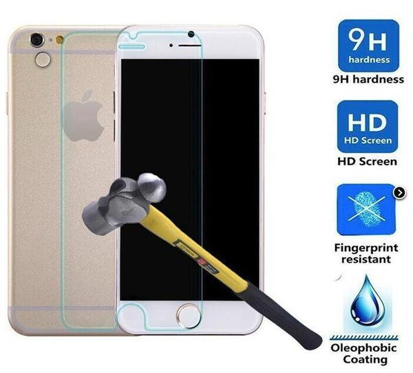 Tempered Glass For Iphone 7 6S Plus 5S 9H Anti Scratch Screen Protector For Samsung Galaxy J7 Note 5 J3 2017 Motorola Moto E4 Sony Xperia XA