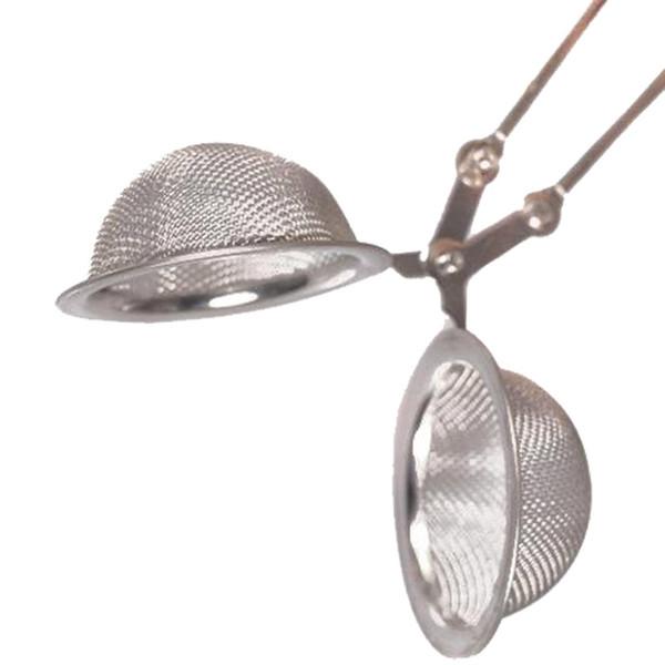Hochwertiger Edelstahl-Siebkorb aus Stahlgewebe Ball Teeblätter Filter Squeeze Locking Löffel Verwenden Sie es in Wasserkocher / Töpfen