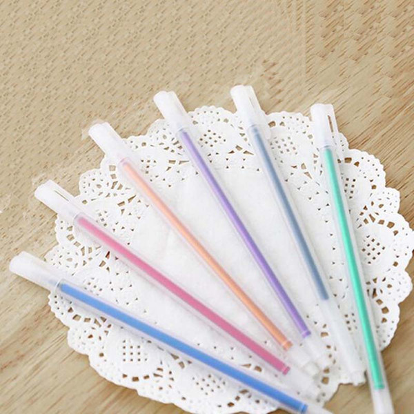 6 Pcs/lot Colorful Gel Pens Cute Stationery Pens For Writting Office School Supplies Gift Transparent Matte 6 Colors Gel Pen Writing Pens